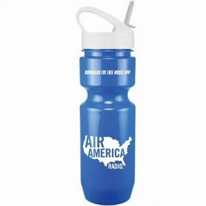 22 Oz. Bike Bottle w/ Sport Sip Lid - Solid Colors