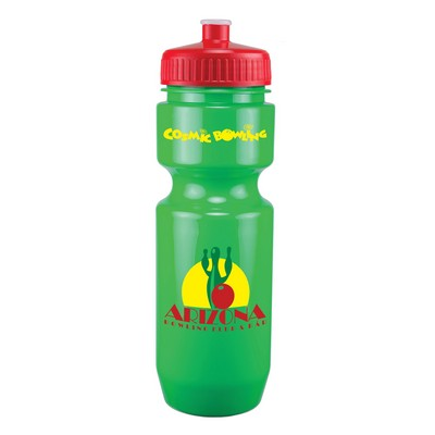 22 Oz. Bike Bottle w/ Push Pull Lid - Solid Colors