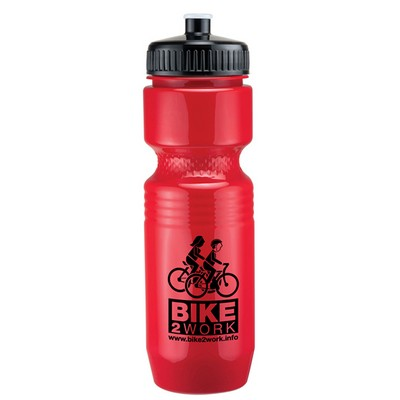 26 Oz. Jogger Bottle w/ Push Pull Lid - Solid Colors